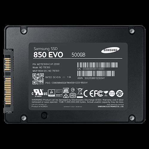 500GB SAMSUNG 850 EVO Series