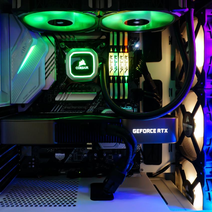 игровой компьютер на видеокарте GeForce RTX 3070