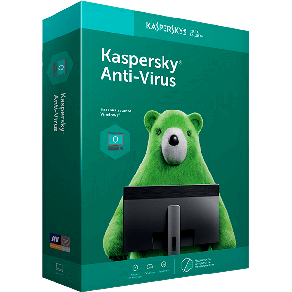 Kaspersky Anti-Virus, лицензия на 1 год на 2 ПК